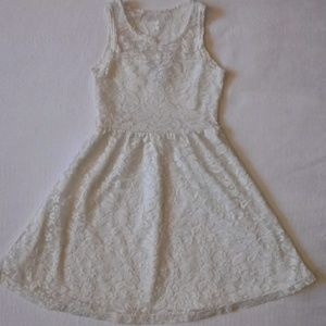 Dream Star Toddler White Lace Dress